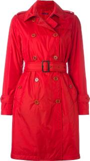 Double Breasted Belted Trenchcoat Women Polyamidepolyester Xl, Red