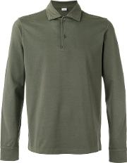Longsleeved Polo Shirt Men Cotton Xl, Green