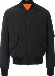 Padded Bomber Jacket Men Polyamidepolyester L, Black