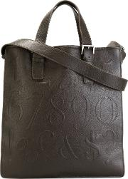 'didot' Bookbag Tote Unisex Calf Leather One Size, Brown