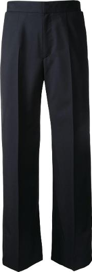 Cropped Tailored Trousers Women Cotton 2, Black