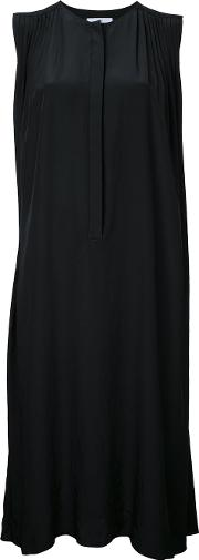 Midi Dress Women Polyester One Size, Black