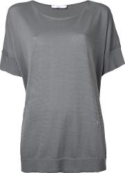 Shortsleeved Sweater Women Cotton One Size, Grey