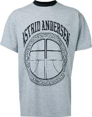 Logo T Shirt Men Cottonspandexelastane S, Grey