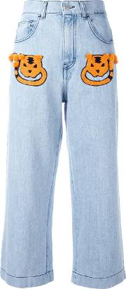 Cropped Jeans Women Cottonviscose 38, Blue