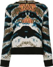 Printed Hooded Top Women Cashmere 3, Blue