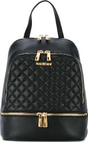 Quilted Backpack Women Leather One Size, Black