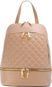 Quilted Backpack Women Leather One Size, Nudeneutrals