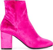 Ville Booties Women Leathervelvet 395 Pinkpurple