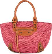 Basket Hand Tote Bag