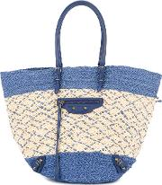 Crossed Pattern Tote