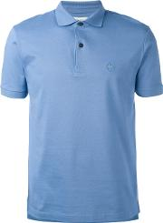 Chest Logo Polo Shirt Men Cotton Xxl, Blue