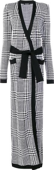 Prince Of Wales Checked Cardigan Women Viscose