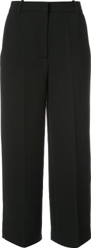 Cropped Culottes Women Polyester 40, Blue