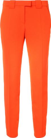 Fitted Tailored Trousers Women Polyester 6, Women's, Red