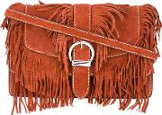 Fringed Cowboy Shoulder Bag Women Calf Leatherpolyester One Size, Brown