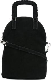Lace Up Straps Tote Women Polyestercalf Suede One Size, Women's, Black