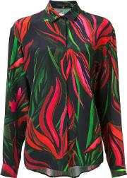 Patterned Blouse Women Silk 10, Women's, Green