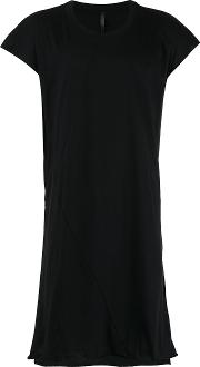 Barbara I Gongini Elongated Open Back T Shirt Men Cotton 46, Black