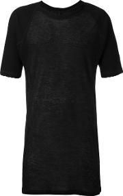 Long T Shirt Men Lyocellwool Xl, Black