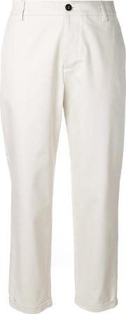 Barena Cropped Pants Women Cotton 40, Nudeneutrals