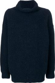 Barena Ribbed Knit Sweater Women Acrylicwoolalpaca S, Blue