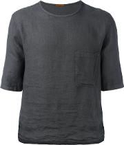 Chest Pocket Boxy T Shirt Men Linenflax 50, Grey