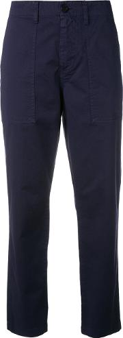 Chino Trousers Women Cottonspandexelastane 40, Blue
