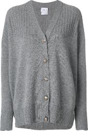 Barrie Contrast Knit Cardigan Women Cashmere S, Grey