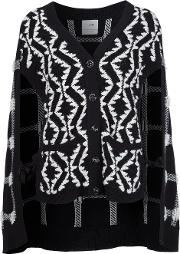 Cashmere Cape Cardigan Women Cashmere M, Black