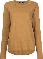 Bassike Wide Heritage French Seam T Shirt Women Cotton 10, Brown