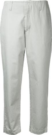Cropped Chinos Women Cotton 10, Grey