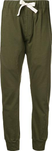 French Terry Cuffed Trousers Women Cotton 14, Green