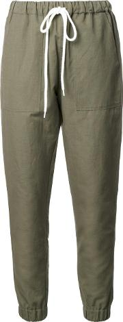 Tapered Trousers Women Cottonlinenflax 14, Green