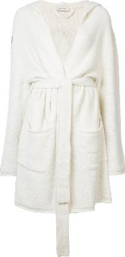 Belted Sleeve Detail Cardi Coat Women Cashmere Ml, White