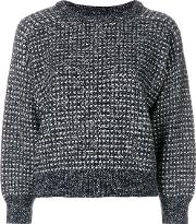Textured Cropped Sweater