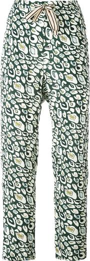 Vael Tapered Trousers Women Cottonviscose 2, Green
