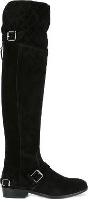 'taylour' Knee High Boots Women Leathersuede 40, Women's, Black
