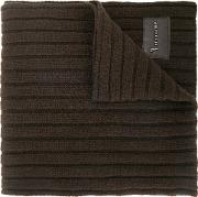 Billionaire Ribbed Scarf Men Leathercashmerewool One Size, Brown