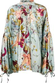 Oversized Print Blouse