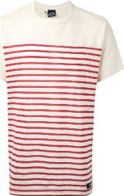 Striped T Shirt Men Cotton M, Nudeneutrals