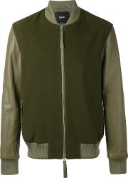 Blood Brother Alpha Bomber Jacket Men Lamb Skinwool Xl, Green