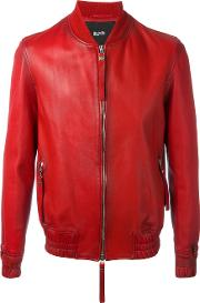 Guard Bomber Jacket Men Cottonlamb Nubuck Leather Xl, Red
