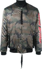 Loyal Bomber Jacket Men Polyesterspandexelastanecotton Xs, Green