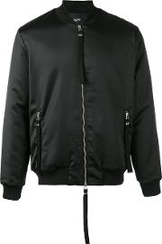 Sunsilk Bomber Jacket Men Cottonpolyesterspandexelastane S, Black