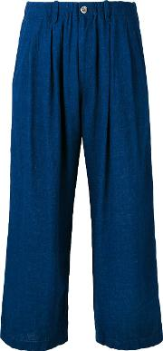 Cropped Trousers Women Linenflaxrayon M