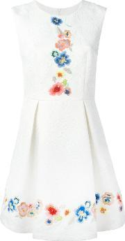 Embroidered Jacquard Dress Women Cottonpolyester 42