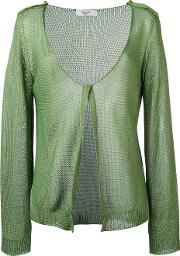 Knitted Cardigan Women Cotton 42, Green