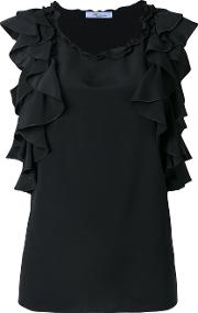 Ruffled Detail Blouse Women Silkviscose 42