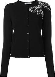 Sequin Bow Cardigan Women Polyamideviscose 42, Black